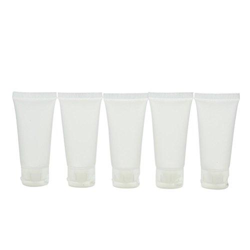 Haishell Leere Röhrchen, durchsichtige Kosmetikbehälter, Reise-Flasche, leere Behälter, nachfüllbare Kunststoffröhren für Lipgloss, Röhrchen, 20 ml, 5 Stück