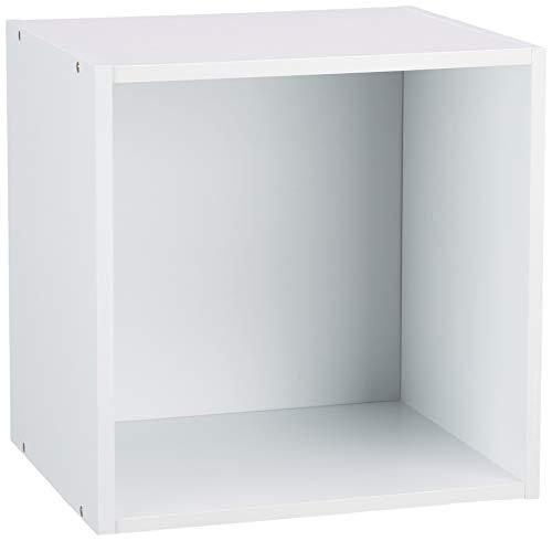 HOMEA 6ran697bc cubo portaoggetti con nicchia Pannelli di Particelle Bianco 34,4x 29,5x 34,4cm