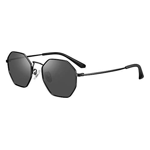 Gafas para Niños Gafas De Sol Polarizadas Protección UV Polarizadas Nueva Protección De Moda Bebé Sombrillas De Sol Gafas De Sol Memoria De Moda Metal, Protección UV Efectiva (Color : Black)