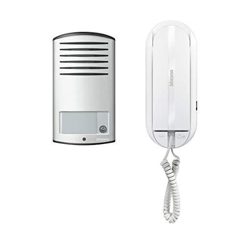 BTicino 366811 Kit Audio 2 Fili monofamiliare con pulsantiera Linea 2000 da Parete e citofono Sprint L2, Grigio