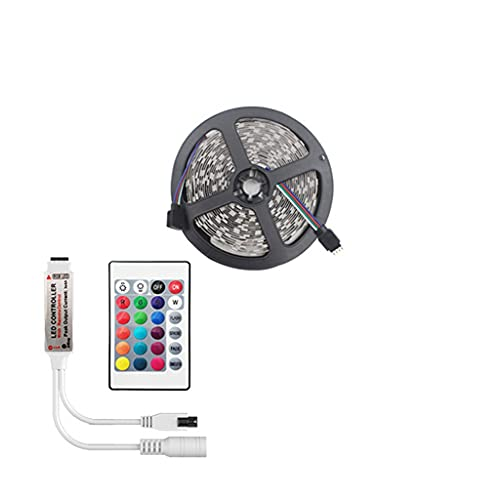 LANDUA 10M Juego Completo de Luces de Tira LED Bluetooth RGB 2835 5050 SMD Cinta Flexible Impermeable Luz LED RGB DC 12v (Color : IR, Size : 5050 Non Waterproof)