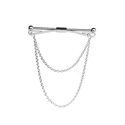 hong Wu Collo Camicia Cravatta Collare Pin Clip di Legame dell'uomo Clasp Bar Spilla Accessorio per Anniversario di Matrimonio Affari E Vita Quotidiana d'Argento