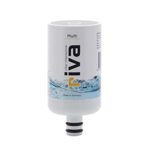 riva MULTI Ersatzkartusche | Trink- und Dusch-Wasserfilter | Zertifizierter, sicherer Schutz gegen Legionellen, Bakterien, Keime in Küche, Dusche und Bad.