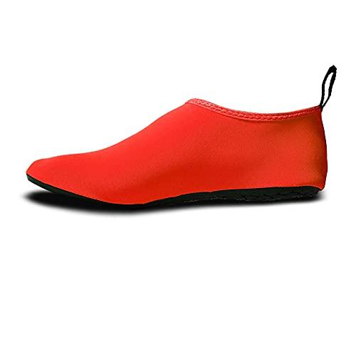 QAOSHOP Unisex Kids Water Shoes, Swim Barefoot Shoes Non-Slip Quick Dry Aqua Socks For Beach, Swimming Pool, Surfing,B,27