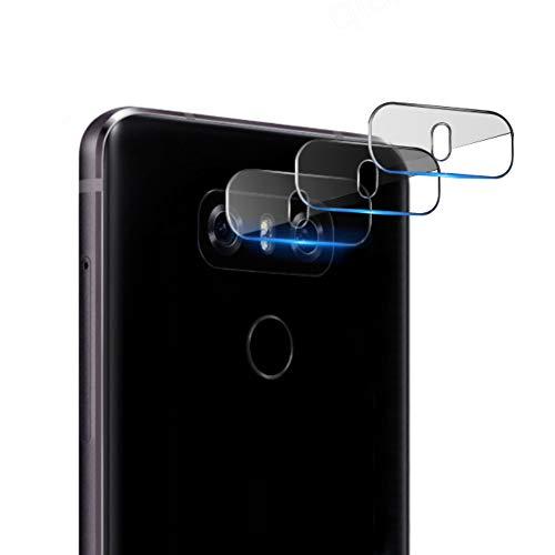 qichenlu [6D Willow Glas] 3 Stück Kamera Folie für LG V40 ThinQ, Linse Kamera Schutzglas für LG V40 ThinQ,Ultra-Klar Blasenfrei Kratzfest Rückseite Kamera Schutz Folie für LG V40 ThinQ