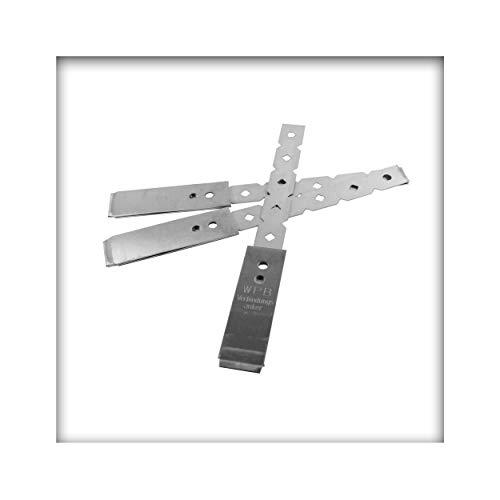 WAKAI Einschlagmauerverbinder Maueranker Edelstahl Flachanker 247 mm 10 Stück