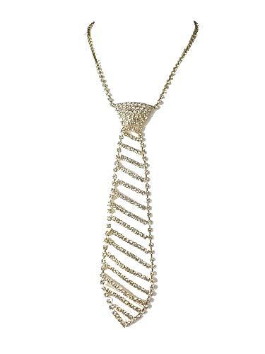 Kette Halskette Kurze Kette Krawatten Collier Strass Eleganz Gold