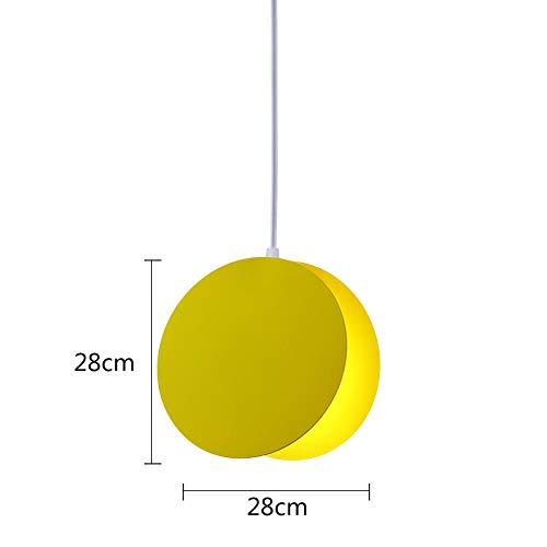 Kleine creatieve lampenkap van glas, rond, met LED-lamp, voor eetkamer, eetkamer, eetkamer, kroonluchter, A2_30 x 40 cm