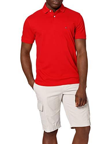 Tommy Hilfiger 1985 Regular Polo Camisa, Rojo primario, M para Hombre