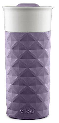 Ello Ogden Ceramic Travel Mug with Friction-Fit Lid  16 oz   Deep Purple