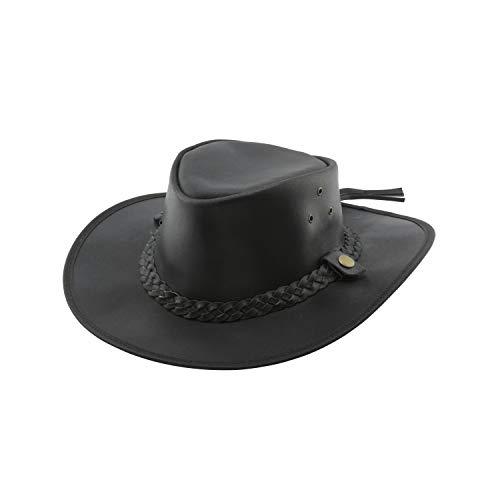Black Jungle Bulat lederen hoed, Westernhoed, Australië hoed, Cowboyhoed