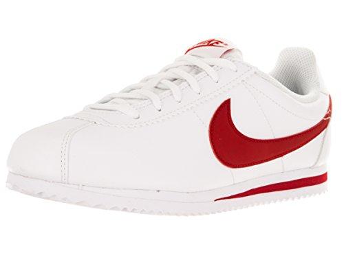 Nike Jungen Cortez (GS) Laufschuhe, Weiß/Rot (White/University Red), 37 1/2 EU