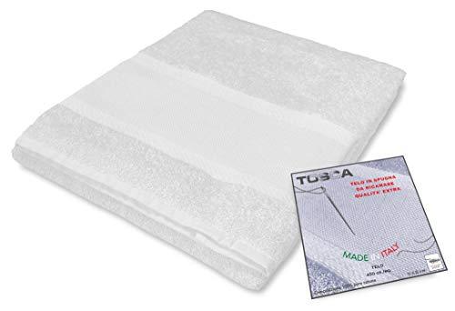 tex family Frottee-Handtuch Tosca © Aida-Stoff zum Besticken Kreuzstich cm 100 x 125 - weiß