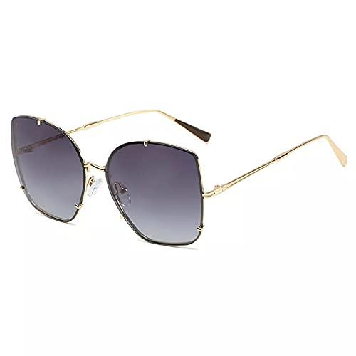 BAJIE Gafas De Sol Ojo De Gato Gafas De Sol para Mujer Gafas De Sol De Montura Grande Zonnebril Dames