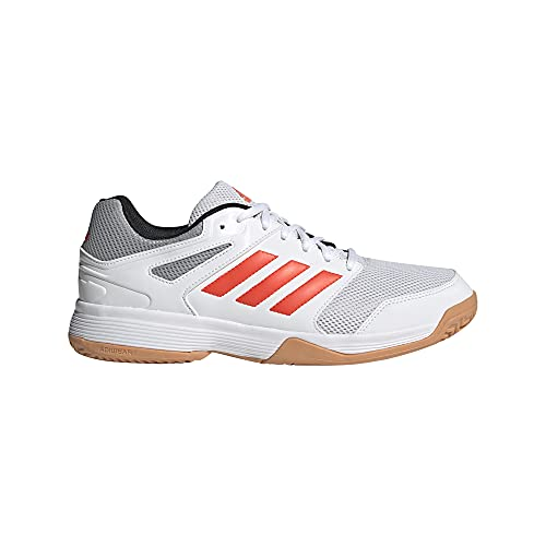 adidas Speedcourt M, Zapatillas de Voleibol Hombre, FTWBLA/Rojsol/Gridos, 40 EU