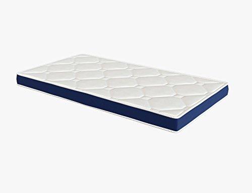El Almacen del Colchon - Colchón espumación, Modelo Ten - Todas Las Medidas, Blanco y Azul (80 x 180 cm)