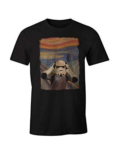 Original Stormtrooper Herren T-Shirt Scream Shepperton Design Studios für Star Wars Fans Baumwolle schwarz - M