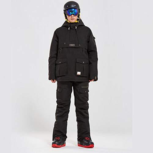 KUNHAN Heren ski-jack Heren ski-wear Snowboard Kleding Heren Sneeuwpak voor dames Kleur Bijpassende Dikke Gewatteerde Waterdichte Double Board Mannelijke Ski-pak