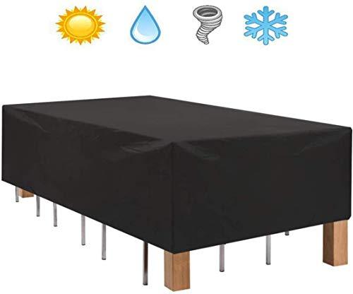 XBR Cubierta de Muebles Protección Impermeable Muebles de jardín Protector Heavy Duty 210OxforOutdoor Protector Set para Mesa y Sillas A Prueba de Viento yAnti 120 * 120 * 74CM,