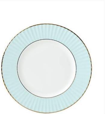 cheap Lenox Pleated Colors Aqua Salad LB 0.70 Blue Plate New item