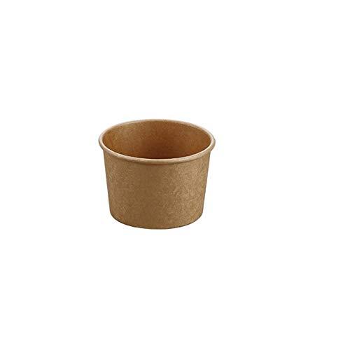 Espresso Cup Tasting Cup Trinkbecher 100 Stück Coffee to go Wegwerfbecher Biologisch abbaubare Umweltfreundliche Kaffeetasse Papier Cup Brown Unbleached (Size : 230ml)