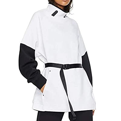 Nike Womens NSW Tech Fleece Mock Neck REIMAG BV7117-100 Size S White/Black