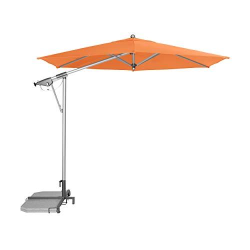 """Doppler Pendelschirm AX Alu-Pendelschirm 290cm """"Made in Europe"""" – 6-teilig – Sonnenschirm für Balkon, Garten – Neigbar – Wasserdicht – 290 cm – Orange"""