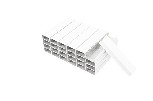 PraxxisPro Colored Staples, White, Standard Size Chisel Point Staples, Single Box (5000 ct)
