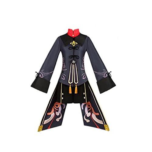 9PCS Anime Genshin Impact Hu Tao Hochwertige Halloween Cosplay Kostüm Lolita Gothic Kleid Anzüge mit Zubehör
