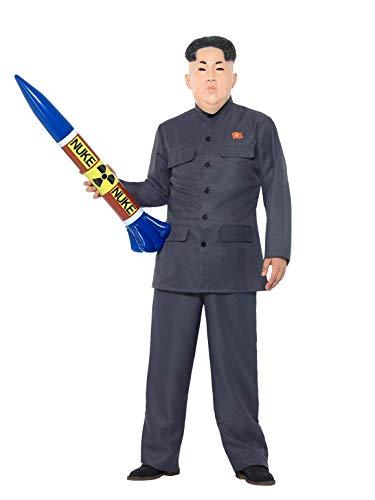 Smiffys 47203L Smiffy's Diktator-Kostüm, grau, L - Size 42