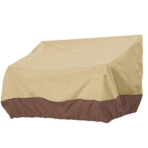 on brand DANDANdianzi Heavy Duty Banc Patio Couverture Couverture imperméable extérieure étanche extérieur Sofa pelouse Housse - Beige + café