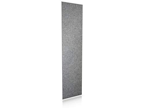 Luxflair Filz Vorhang 60 x 250cm in Graumeliert. Der Vorhang ist waschbar und eignet Sich perfekt als Schiebevorhang oder Raumteiler.
