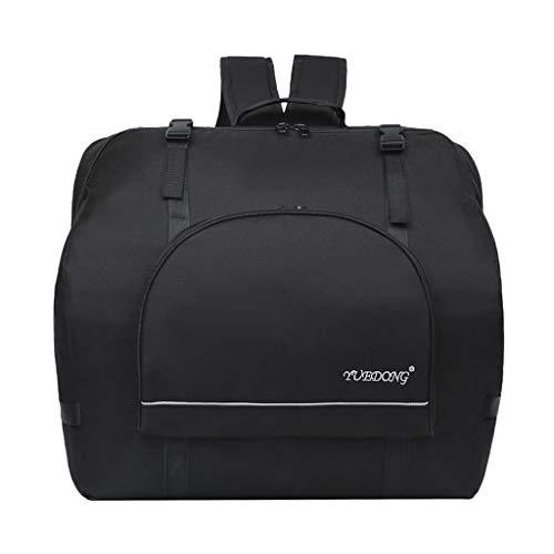 Almencla Nylon Oxford Akkordeon Rucksack Tasche Koffer Akkordeon Gig Bag für 60-120 Bass Akkordeon, Wasserdicht, Schwarz - 60 Bass