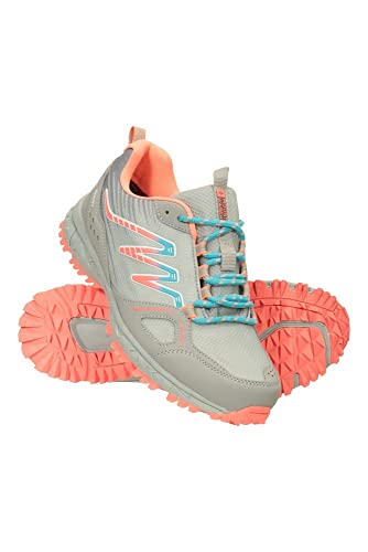 Mountain Warehouse Chaussures de Marche imperméables Lakeside Trail Femme - Semelle intermédiaire en Phylon, Semelle extérieure en Caoutchouc et revêtement en Maille Gris 39