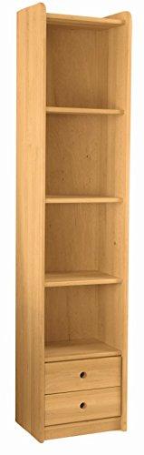 BioKinder 23148 Spar-Set Lara Regal Bücherregal Kinderregal mit Schubladeneinsatz aus Massivholz Erle 200 x 44 x 35 cm