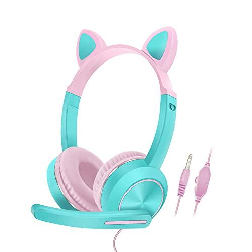 Cat-Ear-Gaming-Headset, 3,5 mm...