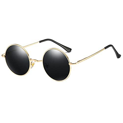Kennifer Classic Rotondo Polarizzati UV400 Occhiali da sole con Vintage Circle Telaio in Metallo Stile Lennon Uomini Donne Occhiali