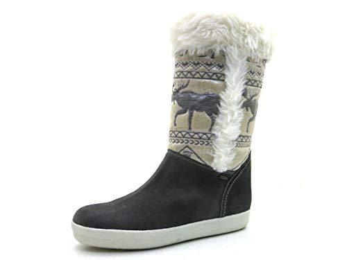 HÖGL 2-102532 Damen Winterstiefel Langschaft Schuhe Leder Winter Stone EU 41