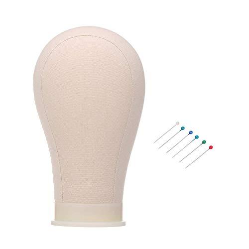 Anself Testa di manichino in sughero,21 Pollici testa del manichino Testa di Manichino Esibizione per Parrucche Cappell Cuffia