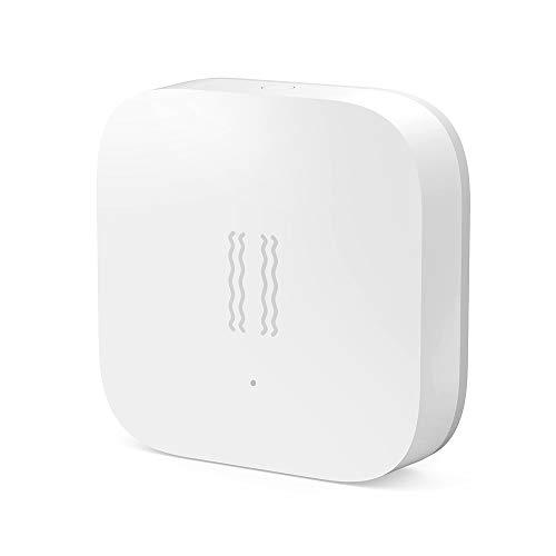 para Xiaomi Aqara Sensor De Vibración Incorporado En El Sensor De Movimiento,Alarma con Sensor De Vibracion para La Seguridad En El Hogar Inteligente Trabaja con Mijia y Homekit.