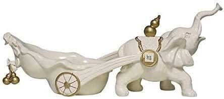 YANRUI Estatua de Elefante Animal Escultura Arte joyería artesanía Modelo Vino gabinete de Vino gabinete de televisión decoración Suave Accesorios Regalo Resina Figurines (Color : B)