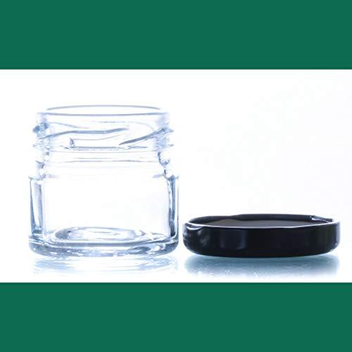 Tarro de cristal 30 Gr. Tarro conservas tarros pequeños con tapa incluida Tarros para miel gominolas Mini Frascos Hermeticos Tarros para Mermelada Conservas Tarros para Cosmética, (60 Unidades)