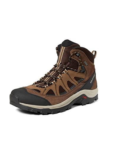 Salomon Authentic Gore-Tex (impermeable) Hombre Zapatos de trekking, Marrón (Black Coffee/Chocolate Brown/Vintage Kaki), 49 1/3 EU
