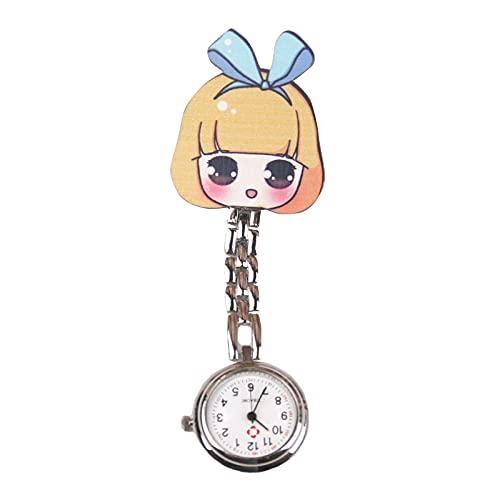 ARMAC Reloj de enfermera lindo silicona médica luminosa multifuncional enfermera de dibujos animados reloj de bolsillo Pin