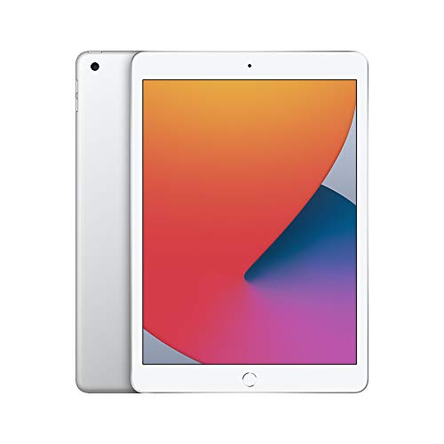 New Apple iPad (10.2-inch, Wi-Fi, 128GB) - Silver (Latest Model, 8th Generation)