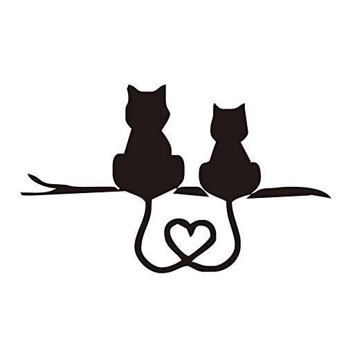 jkhhi Autoaufkleber,3D Vinylaufkleber Aufklebersüße Katze Körper Aufkleber Wasserdicht Autotattoo Sticker für Auto Motorrad (Schwarz, 1pcs)