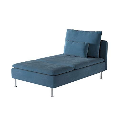 Dekoria Söderhamn Bezug für Recamiere Husse passend für IKEA Modell Söderhamm blau