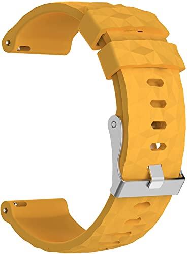 Gransho compatível com Suunto 9/7 / D5i / TRAVERSE/Spartan Sport Wrist HR Baro Pulseira de Relógio, Pulseira de Reposição de Silicone Macio (Pattern 4)