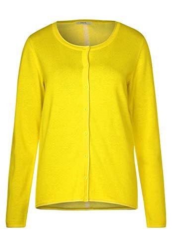 Cecil Damen 252993 Strickjacke, Fresh Yellow, Large (Herstellergröße:L)
