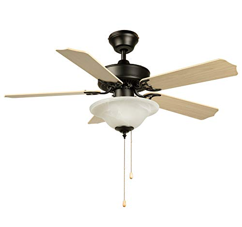 Hyperikon 42 Inch Ceiling Fan, 55W, Remote Control and Pull...